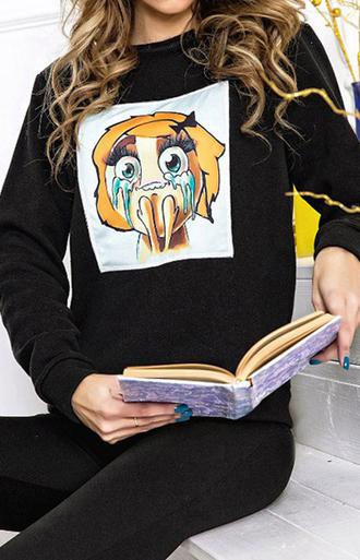 sweater sweat the style sweatshirt sweet sweater weather printed sweater grey sweater oversized sweater winter sweater outfit outfit idea fall outfits tumblr outfit summer outfits winter outfits cute outfits office outfits urban outfitters date outfit streetwear streetstyle meme 3d sweatshirts