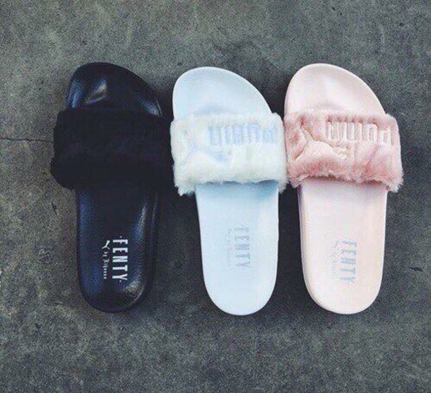 shoes puma slippers slide shoes