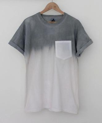 t-shirt grey t-shirt simple tshirt pocket t-shirt shortsleeve