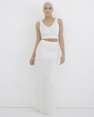 skirt outfit outfit set white white outfit crop tops white crop tops maxi skirt