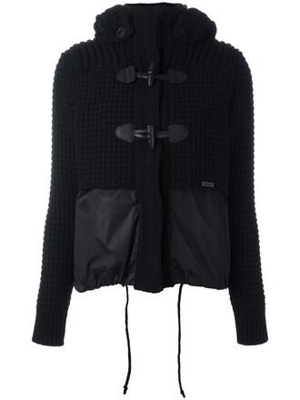 jacket fur women black wool
