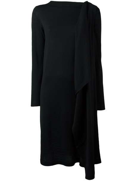 MAISON MARGIELA dress knit women draped black wool