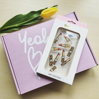 phone cover yeah bunny iphone lipstick leopard print