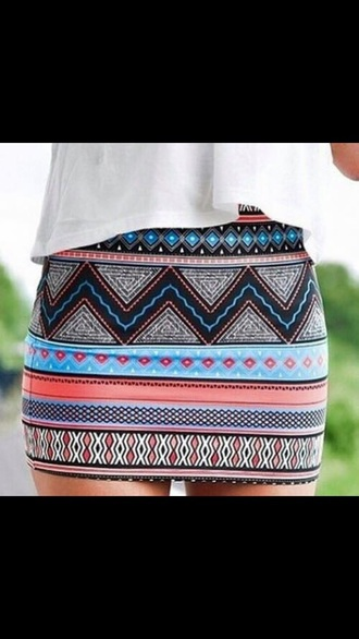 shirt aztec skirt