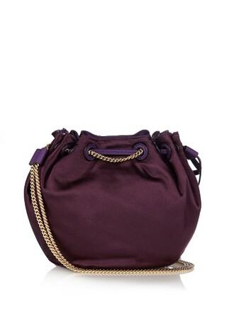 mini love bag bucket bag dark purple