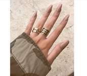 jewels,rings and tings,gold sequins,black dress,big rings,gold ring,jewelery,michael kors,nail polish,nude,fashion,style