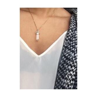 jewels crystal quartz rose quartz stone necklaces hippie crystal necklace