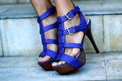 shoes,blue,lovely,high heels