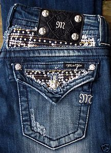 fe717b6df2d Miss ME Rhinestones AND Sequins Flap Pocket Bootcut Jeans IN ...