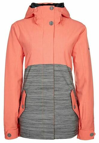 jacket coral roxy snowboarding