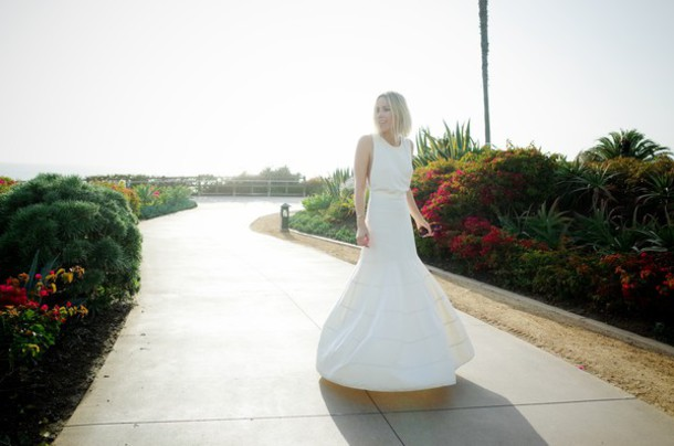 damsel in dior blogger long dress white dress