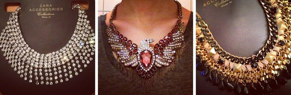 black zara jewels statement necklace silver gold red pink rhinestone sparkle sparkle jewelry chunky necklace crystals