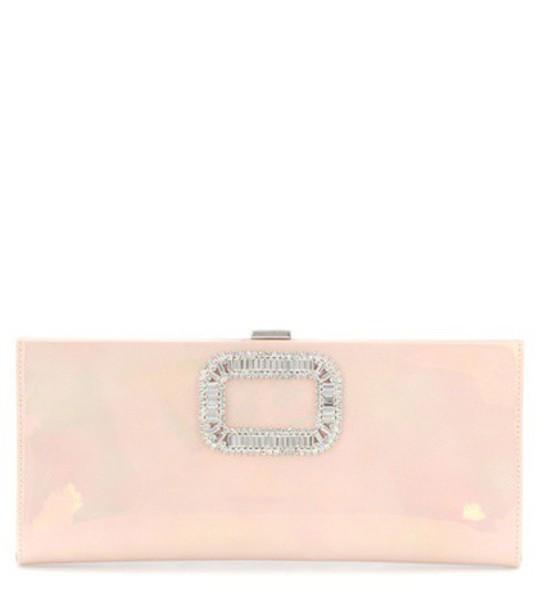 Roger Vivier clutch pink bag