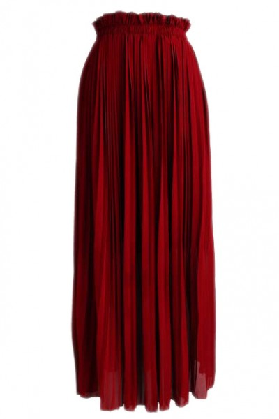 KCLOTH Chiffon Ruffle Skirt Multi Color To Choose
