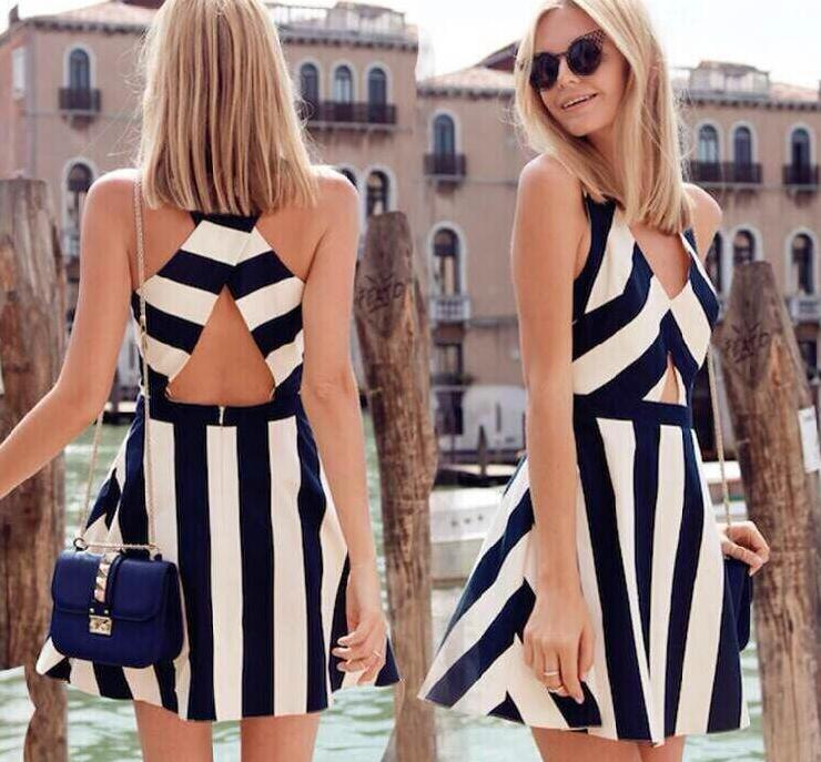 Cute hot fashion grain dress