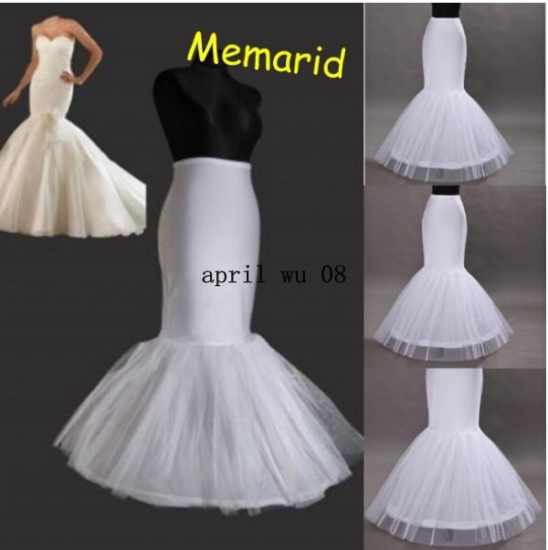 Silk Petticoat 2015 In Stock Mermaid Wedding Underskirt Bridal Crinoline Slip For Dresses Half