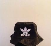 hat,bucket hat,black,adidas,bag