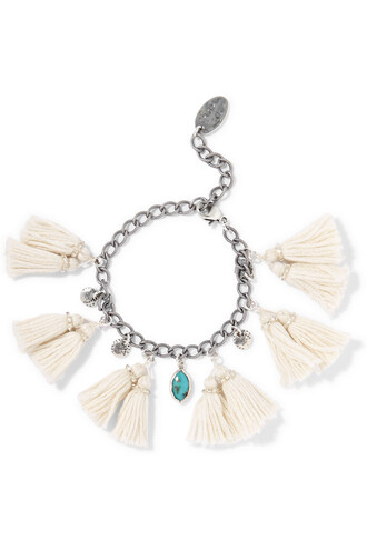 silver turquoise white jewels