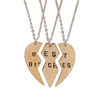BEST BITCHES NECKLACE SET - palaceofchic