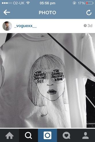 t-shirt grunge hip art arty artist design black and white grunge t-shirt tumblr shirt artist palette white t-shirt