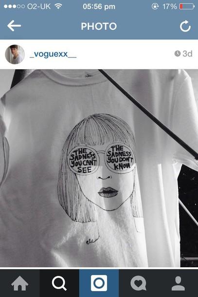 t-shirt grunge hip t-shirt art arty artist design black and white grunge t-shirt tumblr shirt Artist palette white t-shirt