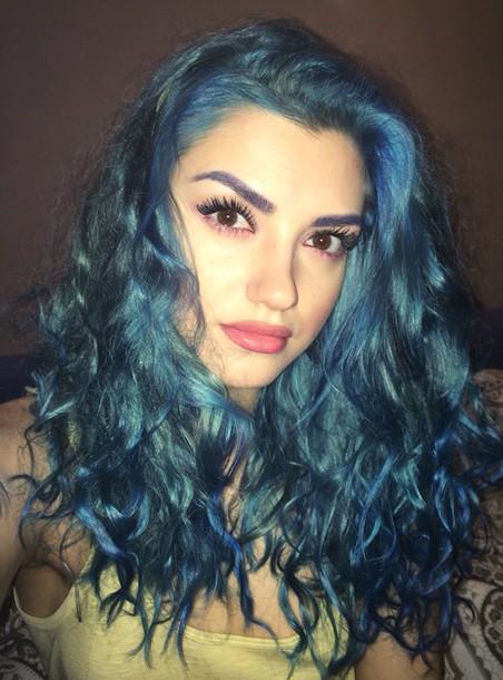 Hair Accessory Blue Hair Makeup Inspo Hair Hairstyles
