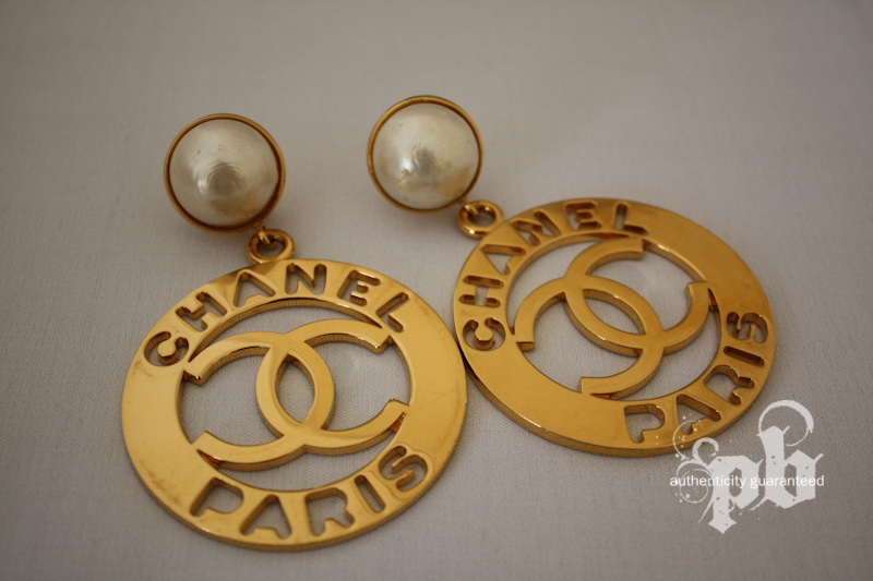 Chanel Large Round Chanel Paris Earrings