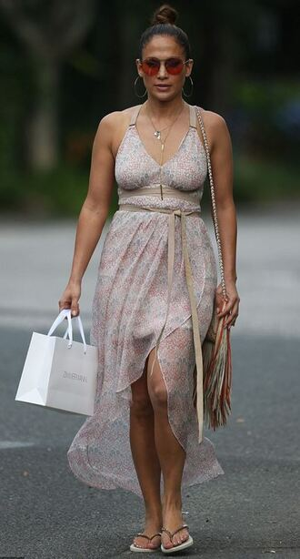 dress summer summer dress jennifer lopez purse fringe bag