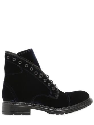 velvet ankle boots boots ankle boots velvet navy shoes