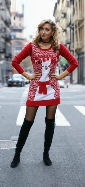 dress christmas llama