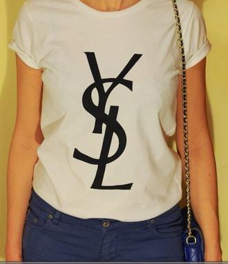 ysl ysl shirt ysl tshirt t-shirt shirt vogue