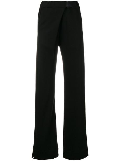 ANN DEMEULEMEESTER women cotton black pants
