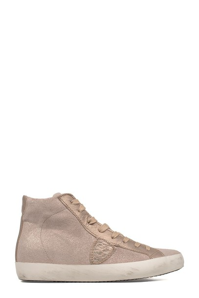 Philippe Model paris rose gold rose high sneakers gold pink shoes