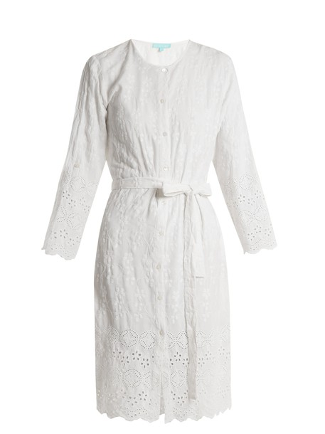 Melissa Odabash shirtdress embroidered white dress