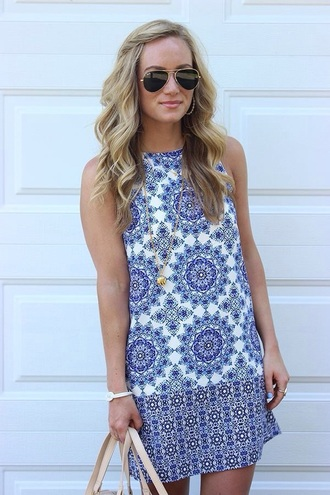 dress blue and white