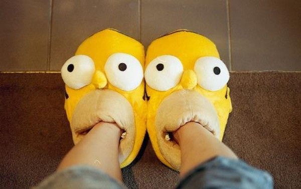shoes slippers homer simpson the simpsons yellow