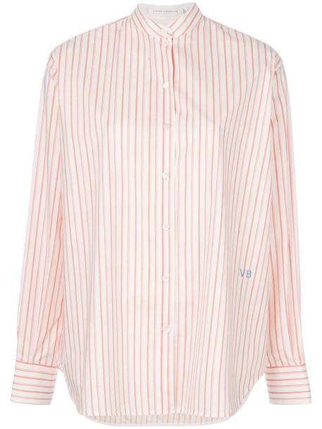 Victoria Beckham shirt striped shirt women white cotton top