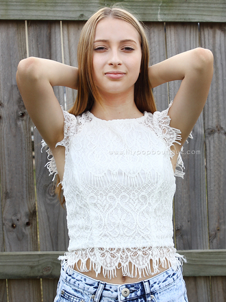 white lace top top white lace top