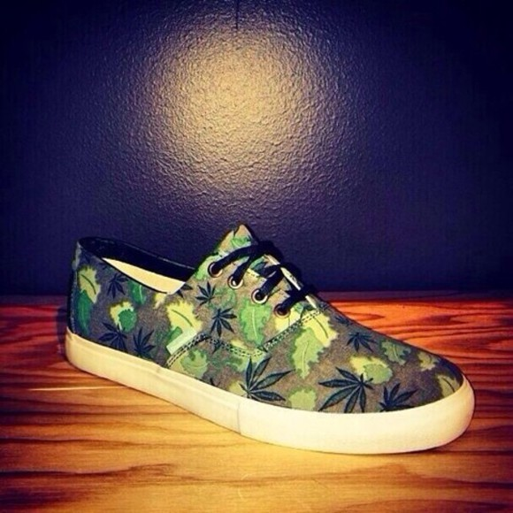 weed shoes mary jane pot green ganga marihuana
