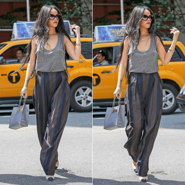 sunglasses rihanna necklace jewels shoes bag top pants