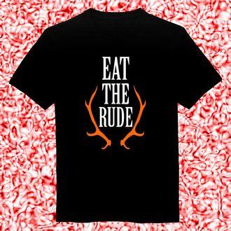 t-shirt eat the rude deer tshirt tshirts tank top hoodie sweatshirt