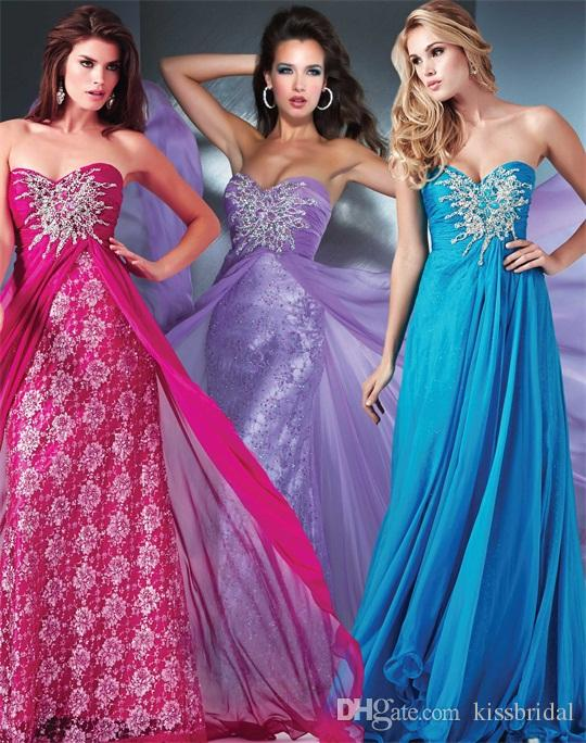 Cheap Chiffon Evening Gowns - Discount New Arrival Crystal Beaded Long Chiffon Prom Dresses Online with $122.43/Piece | DHgate