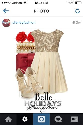 dress gold lace top dress