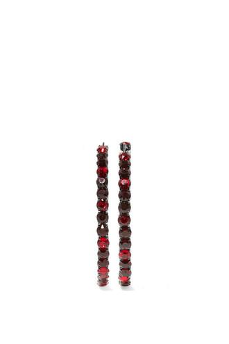earrings burgundy jewels