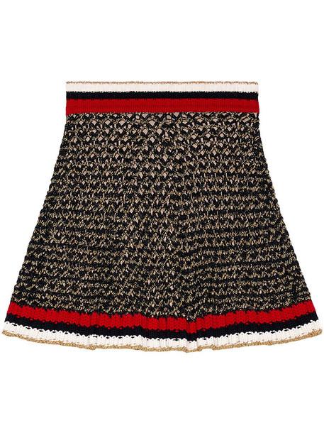 gucci skirt women cotton black silk