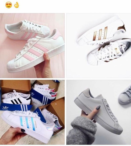finest selection 6e50b f8e7e shoes gold blue grey adidas adidas shoes adidas superstars pink white white  shoes gray shoes gold