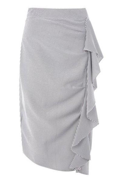 Topshop skirt midi skirt ruffle midi monochrome