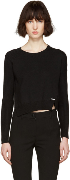 Dsquared2 sweater short slit black