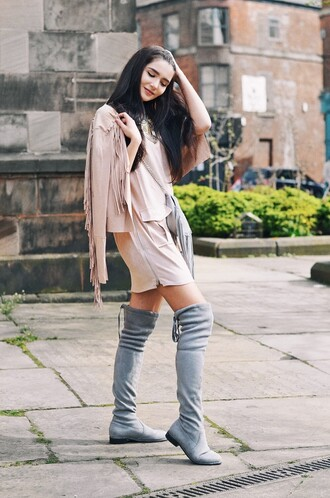 lolita mas blogger suede boots grey boots