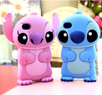 Disney lilo stitch 3d house shell or purple hard back case for iphone 4 4g 4s
